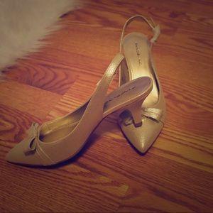 Bandolino Glittery Kitten Heels 7